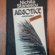 ARGOTICE de NICHITA STANESCU , 1992
