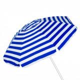 Umbrela pentru plaja antivant, 2m, alb/albastru