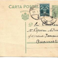 carte postala- INTERBELICA-Carol al-II-lea 3 Lei 1936