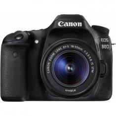 Aparat foto DSLR EOS 80D BK, 24.2 MP,Wifi + Obiectiv EF-S 18-55mm IS STM