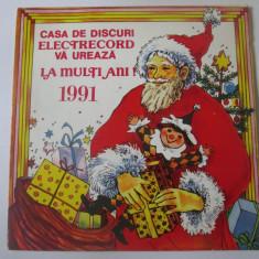 Rar! Vinil mic 7'' disc felicitare:La multi ani! 1991,St.Hrusca/Corul Madrigal, electrecord