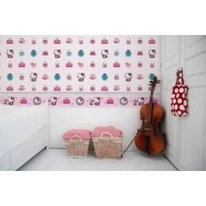 Rola tapet 10 X 0,52m Hello Kitty Fashion TA73499
