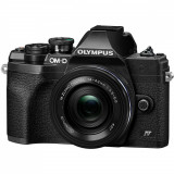 Aparat foto Mirrorless Olympus E-M10 Mark IV Black + Obiectiv M.Zuiko Digital ED 14-42mm Black