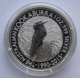 AUSTRALIA 1 DOLLAR 2015 KOOKABURRA . ARGINT 999 ‰ . 31,135 GRAME/ 40,6 MM.PROOF