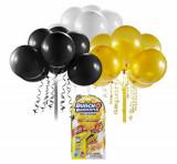 Bunch O Baloons - Set party baloons refill Negru/Auriu/Alb, Zuru