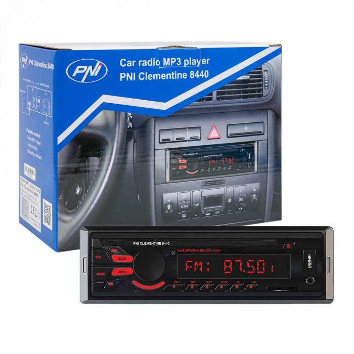 Resigilat : Radio MP3 player auto PNI Clementine 8440 4x45w 1 DIN cu SD, USB, AUX,