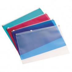 Mapa protectie documente, format A4, inchidere fermoar, 150 microni