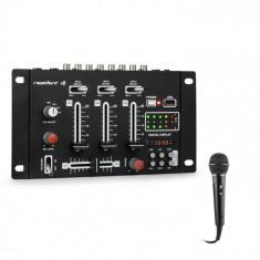 Resident DJ DJ-21 BT, DJ- mixer, bluetooth, USB + microfon, negru