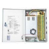 Aproape nou: Sursa alimentare CCTV PNI STC30A in cutie metalica 12V-30A 18 iesiri
