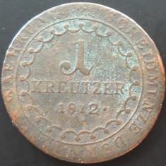 Moneda 1 KREUZER - IMPERIUL HABSBURGIC, anul 1812  *cod 113 SCHMOLNITZ SMOLNIK