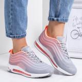 Pantofi dama sport gri cu portocaliu Corelia-rl