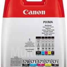 Cartus cerneala canon cli-570multi multipack (cyanmagentayellowpigment si photo black) pentru