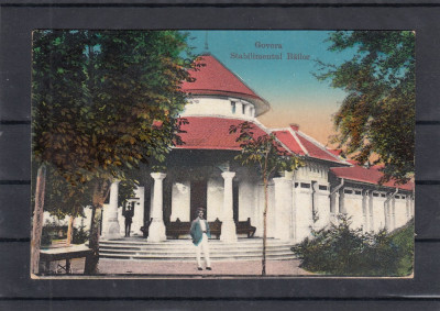 BAILE  GOVORA   STABILIMENTUL BAILOR  CIRCULATA  1923 foto