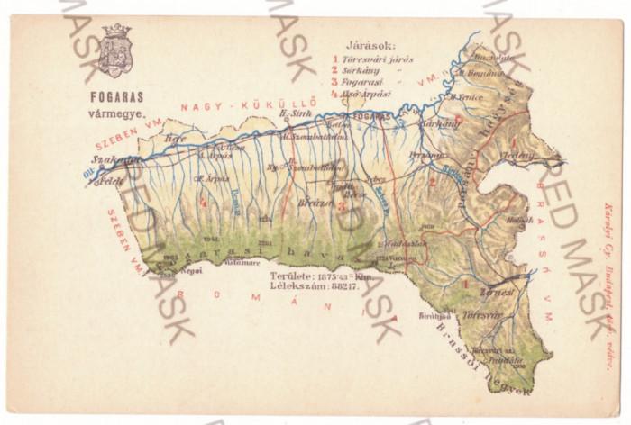 3875 - FAGARAS, Breaza, BRAN, Zarnesti, MAP, Romania - old postcard - unused