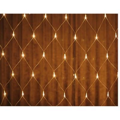 Instalatie de Craciun, 2 m x 2 m, Plasa, Alb Cald, 160 leduri, plasa luminoasa / girlanda / de exterior, 6008WW foto