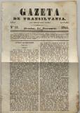 Gazeta de Transilvania - anul VII nr 15 Brasov 1844 ziar vechi