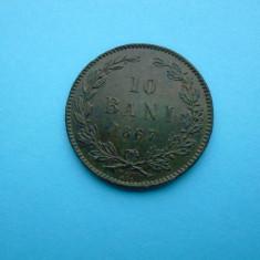 10 Bani 1867-Romania-WATT-AUNC in realitate arata bine