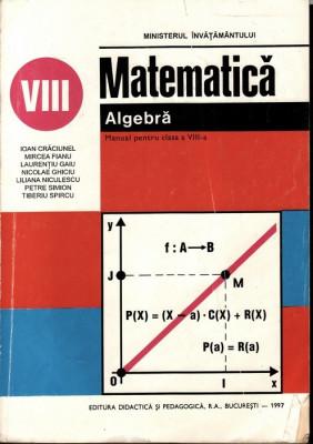 Matematica_manual de algebra pentru clasa a  8-a_colectiv * 55 foto