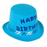 Cumpara ieftin Palarie aniversara pentru baieti Happy birthday, albastru turcoaz, Pufo