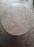 Masuta de cafea, marmura crem- roz masiva (blat si picior)