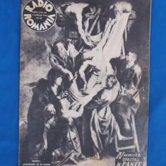 REVISTA RADIO ROMANIA , NUMAR SPECIAL DE PASTE , APRILIE 1942