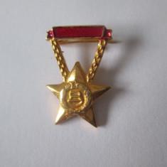 Insigna miniatura fruntas in munca Ungaria anii 70, Romania de la 1950