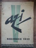 AZI - REVISTA LUNARA DE LITERATURA, CRITICA SI ARTA - AN 1, Nr. 5, noembrie 1932