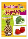Învățam prin joc fructele și legumele. Cărți de joc educative (+3 ani)