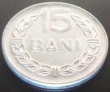 Moneda 15 BANI - RS ROMANIA, anul 1975 *cod 3378 - ALLU NECIRCULATA, Aluminiu