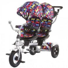 Tricicleta Gemeni Tandem Multicolor, Chipolino
