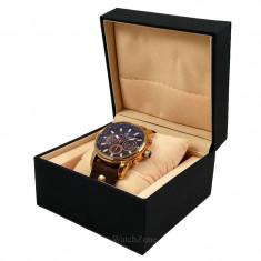 Cutie Pentru Un Ceas Piele Ecologica Neagra WZ245