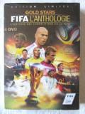 "Pachet 4 DVD-uri Fotbal: ""GOLD STARS - FIFA L'Anthologie"", In limba franceza"
