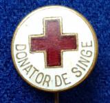 Insigna Donator Onorific - CRUCEA ROSIE Medicina Sanitare Donator de sange #15