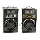Boxe active Bluetooth Temeiseng 2307, 40 W, 8 Ohm, redare MP3, slot card SD, functie karaoke, 2 intrari microfon, maner transport, Temeisheng