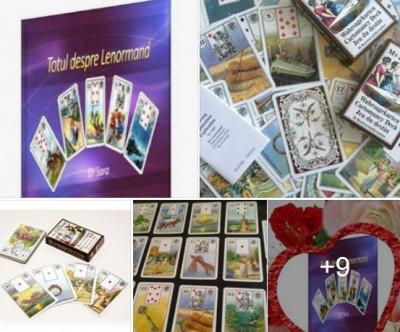 Carti tarot lenormand +cartea Totul despre lenormand in limba romana+set rune foto