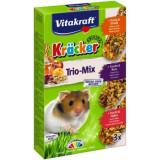 Baton hamster Trio Mix miere-nuci-fructe, 3buc, 170gr, Vitakraft