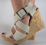 Sandale nude platforma piele naturala (cod SS04), 35 - 40