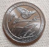 Monedă 25 cents / quarter 2020 USA, Kansas, Tallgrass Prairie, unc, litera P/D, America de Nord