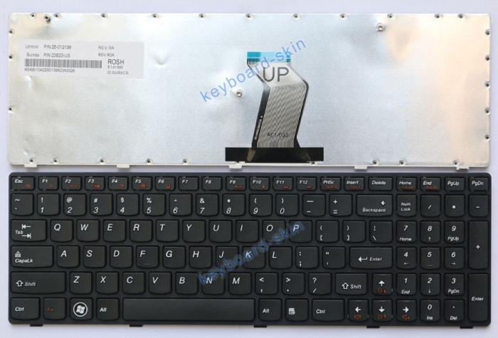 Tastatura Laptop Lenovo IdeaPad G580 G585 G590 N580 P580 V580 Z580 Neagra US
