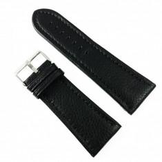 Curea de ceas Neagra din piele naturala - 28mm, 30mm, 32mm, 34mm - WZ3411