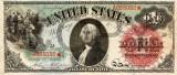 1 dolar 1869 Reproducere Bancnota USD , Dimensiune reala 1:1