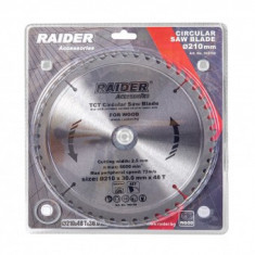 Disc pentru fierastrau circular Raider 210x48Tx30mm