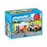 Cumpara ieftin Set de joaca Playmobil City Life, Medic Cu Atv Si Remorca