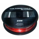 Cumpara ieftin Cablu de putere din aluminiu + cupru 12GA, 4.5 x 3.31 mm, 25 m, Rosu