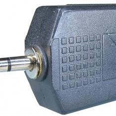 Adaptor jack tata 3,5 mm stereo la 2xjack mama 6,3 mm stereo - 126658