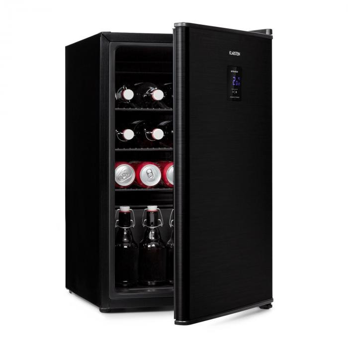 Klarstein Beer Baron, frigider pentru băuturi, A +, 68 litri, 39 dB, 0-10 ° C, negru