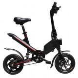 Cumpara ieftin Bicicleta electrica pliabila, roti 12-inch, 7.80 Ah Baterie, Mehawheels, Negru