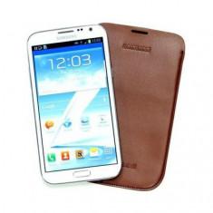 Husa Toc Samsung EFC-1J9L Galaxy Note 2 Maro Chocolate, Piele Ecologica