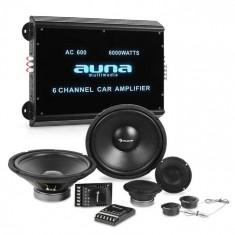 Auna CS Comp-12 car hi-fi difuzoare set complet | Amplificator 6 canale foto