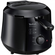 Friteuza Tefal Minicompact FF230831 Principio, 1000 W, 0.6 Kg, 1.2 L, termostat reglabil, Negru